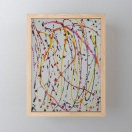 Abstract Splatter Framed Mini Art Print
