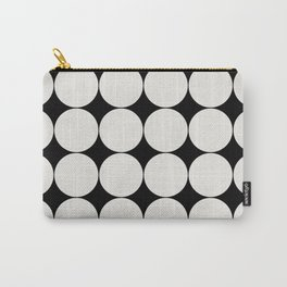 Circular Minimalism - Black & White Carry-All Pouch