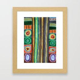 Symmetrical Bordered Stripes Framed Art Print