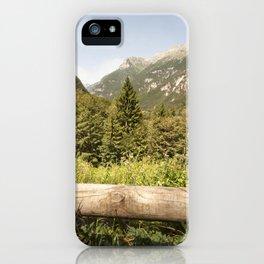 A mountain landscape iPhone Case