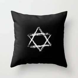 Star of David 22- Jerusalem -יְרוּשָׁלַיִם,israel,hebrew,judaism,jew,david,magen david Throw Pillow