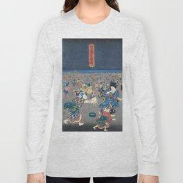 Utagawa Kunisada  Japanese Woodblock Print Long Sleeve T-shirt