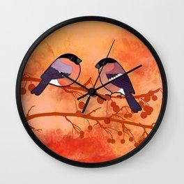 Bullfinch (Pyrrhula pyrrhula) Wall Clock