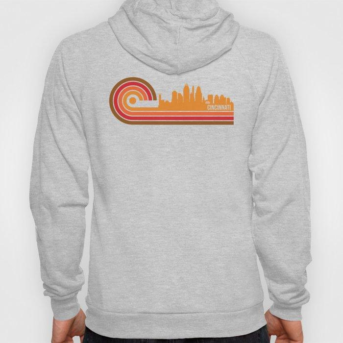 Retro Style Cincinnati Ohio Skyline Hoody