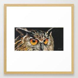 Owl Closeup Framed Art Print