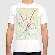 A lo color White Mens Fitted Tee MEDIUM