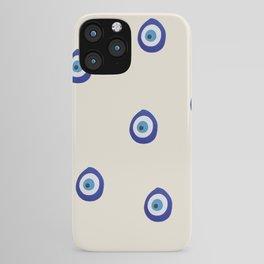 Eye'm Watching You- Blue Evil Eyes iPhone Case