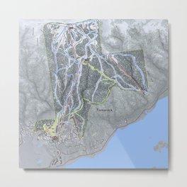 Tamarack  Resort Trail Map Metal Print