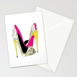 Fashion shoe art Stationery Cards