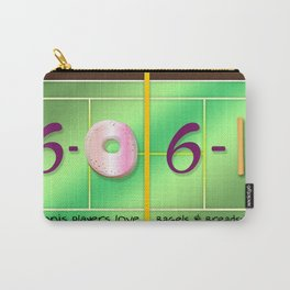 Tennis Players Bagels & Breadsticks  Carry-All Pouch