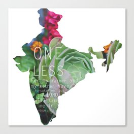 One Less  Canvas Print