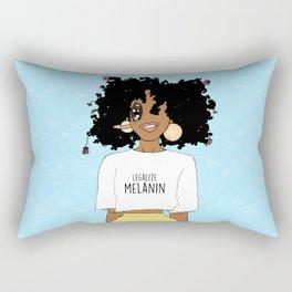 LEGALIZE MELANIN (M) Rectangular Pillow