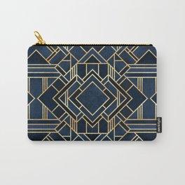 Art Deco Fancy Blue Carry-All Pouch