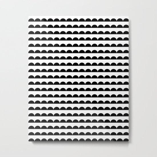 Scallop - Black and white minimal design print hipster urban city brooklyn socal san francisco bay p Metal Print