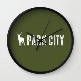 Utah: Park City Deer Wall Clock