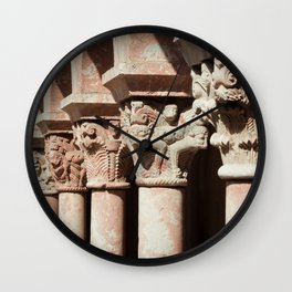Carved Columns Wall Clock