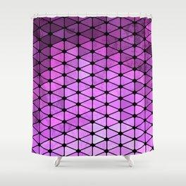 Purple Geometric Design Shower Curtain
