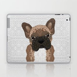 Brown Frenchie Puppy 001 Laptop & iPad Skin