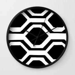 Black and White Geometric Wall Clock