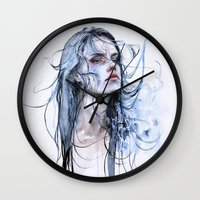shipping Wall Clocks featuring obstinate impasse by agnes-cecile