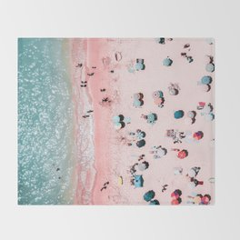Ocean Print, Beach Print, Wall Decor, Aerial Beach Print, Beach Photography, Bondi Beach Print Throw Blanket