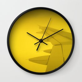 Sun Plane and yellow trip Wall Clock