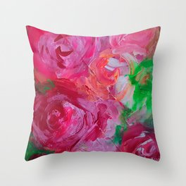 Roses in the mail Throw Pillow