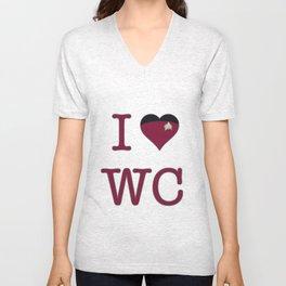 I Heart Wesley Crusher Unisex V-Neck