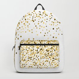 Glam gold glitter confetti design Backpack