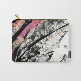 Motivation: a colorful, vibrant abstract piece in pink red, gold, black and white Carry-All Pouch