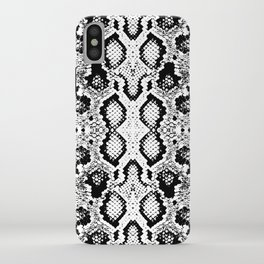 Snake skin texture. black white simple ornament iPhone Case