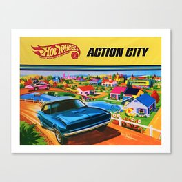 1970 Vintage Hot Wheels Redline Action City Center Poster Canvas Print