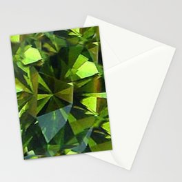 AUGUST BABIES GREEN PERIDOT BIRTHSTONE GEM Stationery Cards