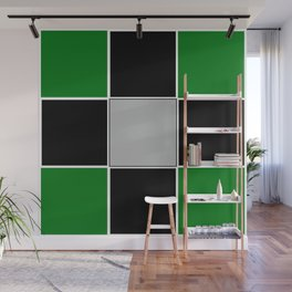TEAM COLORS 3......GREEN,BLACK, AND GRAY Wall Mural