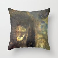 imagerybydianna Throw Pillows featuring reina, of moon and paper by Imagery by dianna