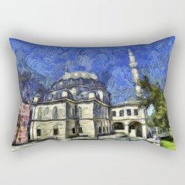 Istanbul Mosque Van Gogh Rectangular Pillow