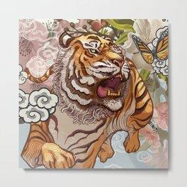 Japanese Traditional Tiger Metal Print