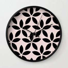 Blush botanicals III Wall Clock