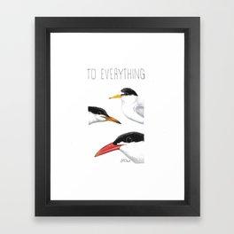 Turn! Turn! Turn! (Least Tern, Common Tern, Caspian Tern) Framed Art Print