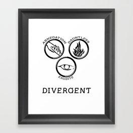 Divergent (Black) Framed Art Print