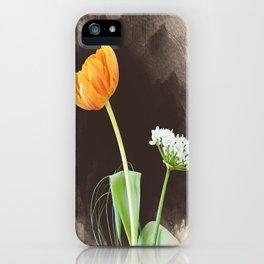 orange and white iPhone Case