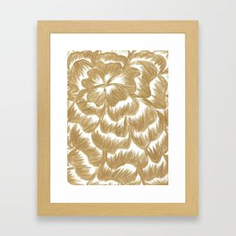 Golden Dahlia Flower Framed Art Print