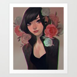flower punk Art Print