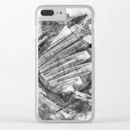 Black & White II Clear iPhone Case
