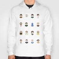 robin williams Hoodies featuring The Faces of Robin Williams by Dorothy Leigh
