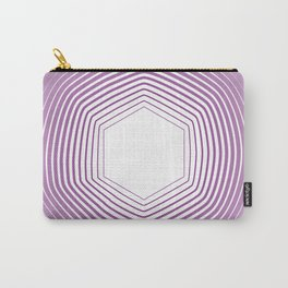 Polygon in White Pink Carry-All Pouch