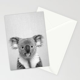 Koala 2 - Black & White Stationery Cards