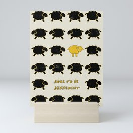Dare To Be Different Sheep Mini Art Print
