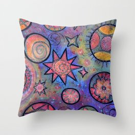 Celestial Stars - Sending Love and Healing Light  Throw Pillow