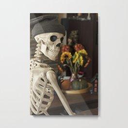 Mr Skeleton's Halloween Metal Print